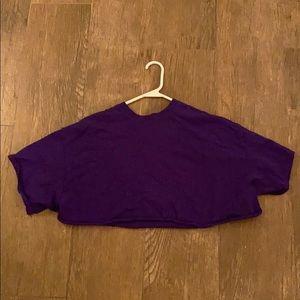 Gildan DIY Cropped Purple T-Shirt